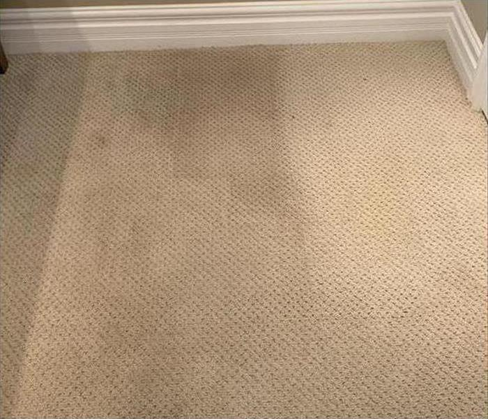 carpet clean on one side