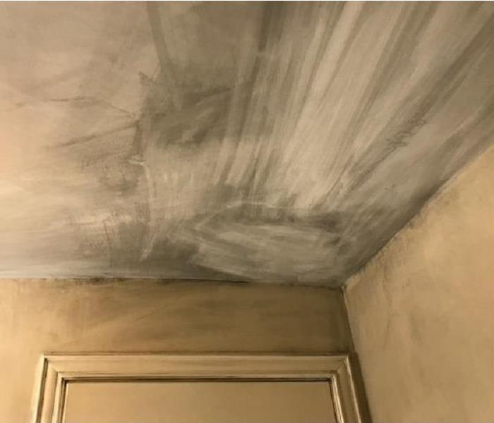 soot on ceiling and walls